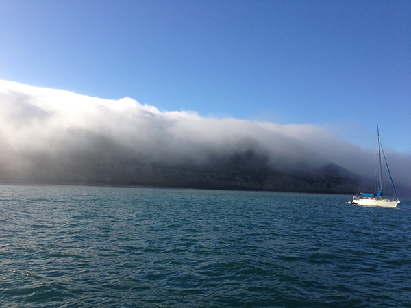 Anchored at lovely Point Loma