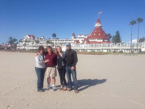 Uncle Terry and aunt Beth showed us around Coronado