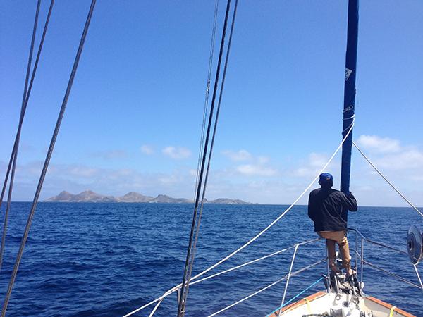 Islas San Benitos in the distance