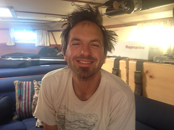 This is what Jonah looks like after 4 days of sailing