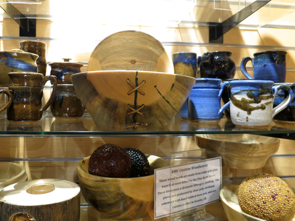 Check out Gary's beetle-kill pine bowl selling out at the gift shop. We are so proud!