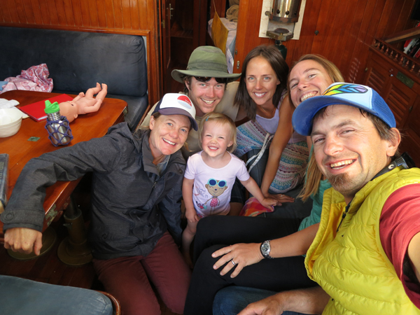 Our youngest captain friend, Isla, on her new boat... and some other lovies